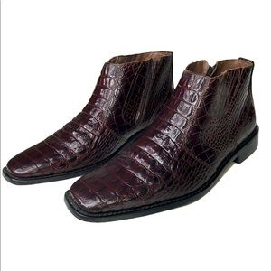 STACY ADAMS CROCODILE CHUKKA BOOTS
